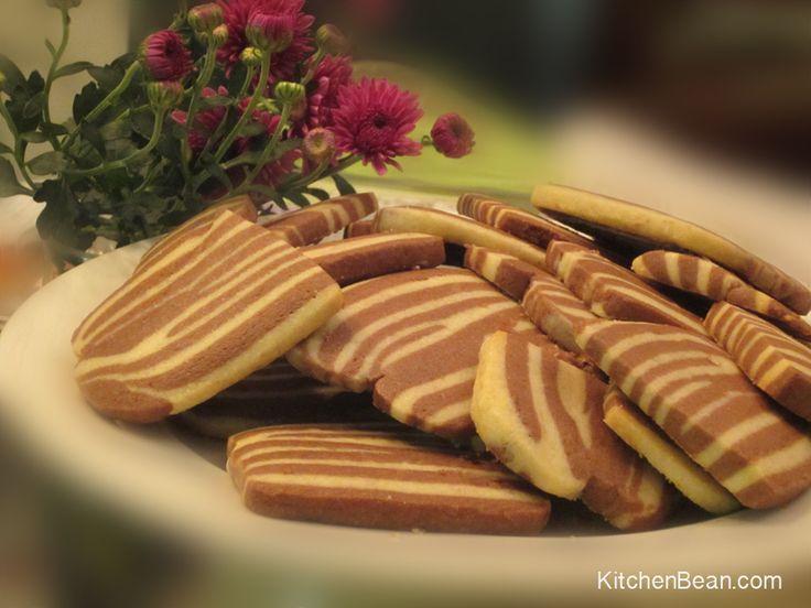 - Chocolate Vanilla Zebra Cookies - from The Great British Bake Off