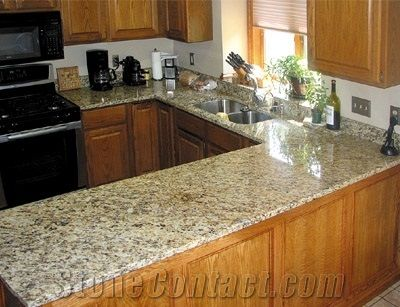 Photos Of Kitchens With New Venetian Gold Granite New Venetian Gold Granite Countertops