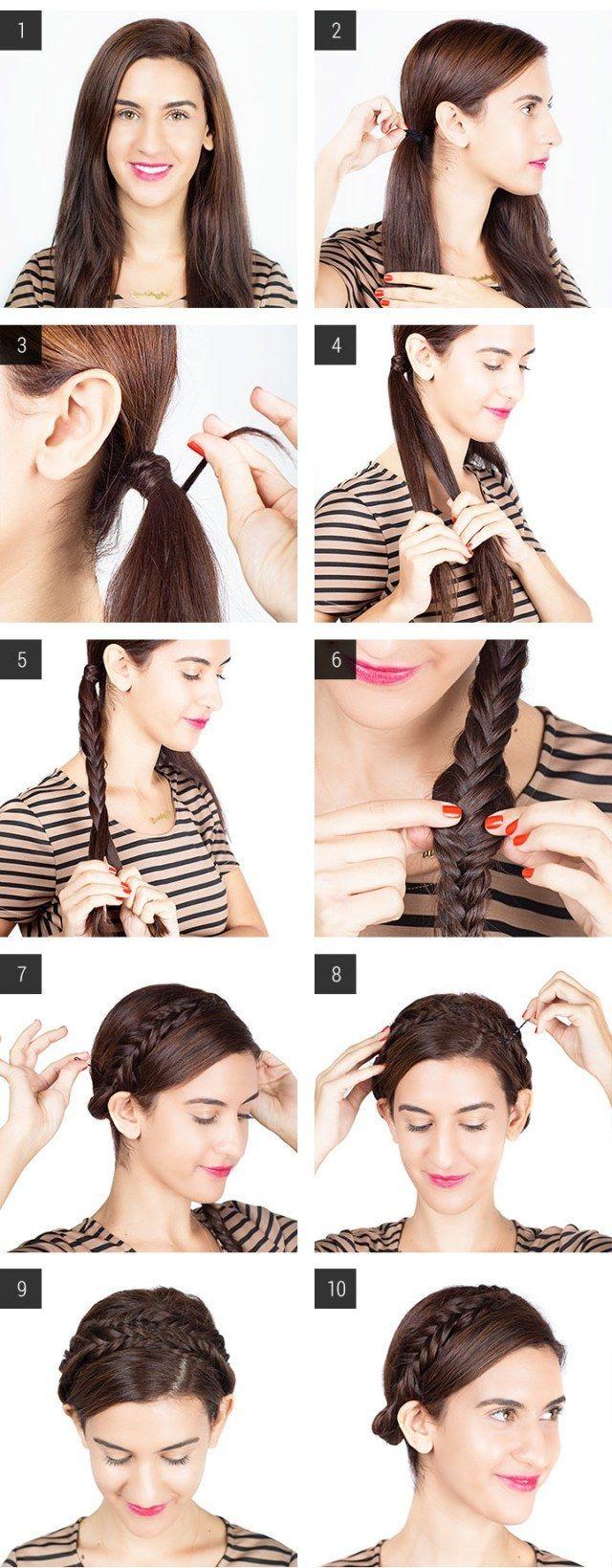 como hacer un peinado facil