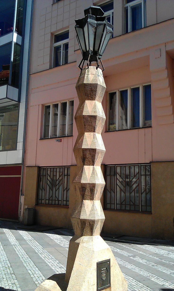 There's a famous Cubist Lantern by the architect Emil Králíček. It' on Jungmannovo náměstí (Jungmann square). Project from 1912.