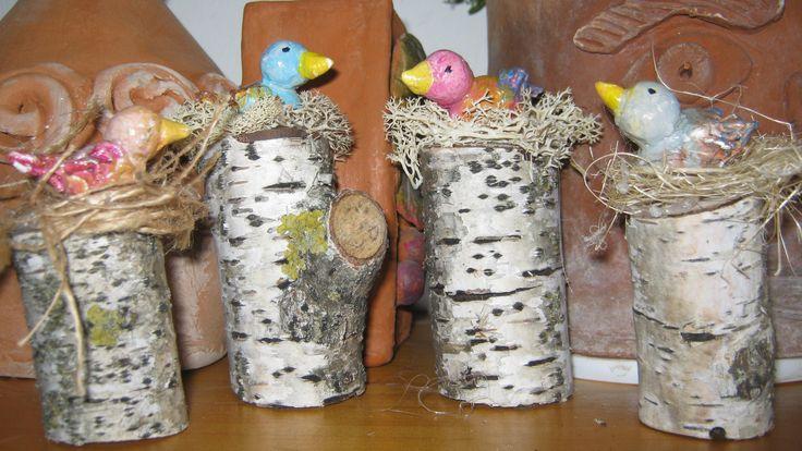 Il concertino. Uccellini in terracotta