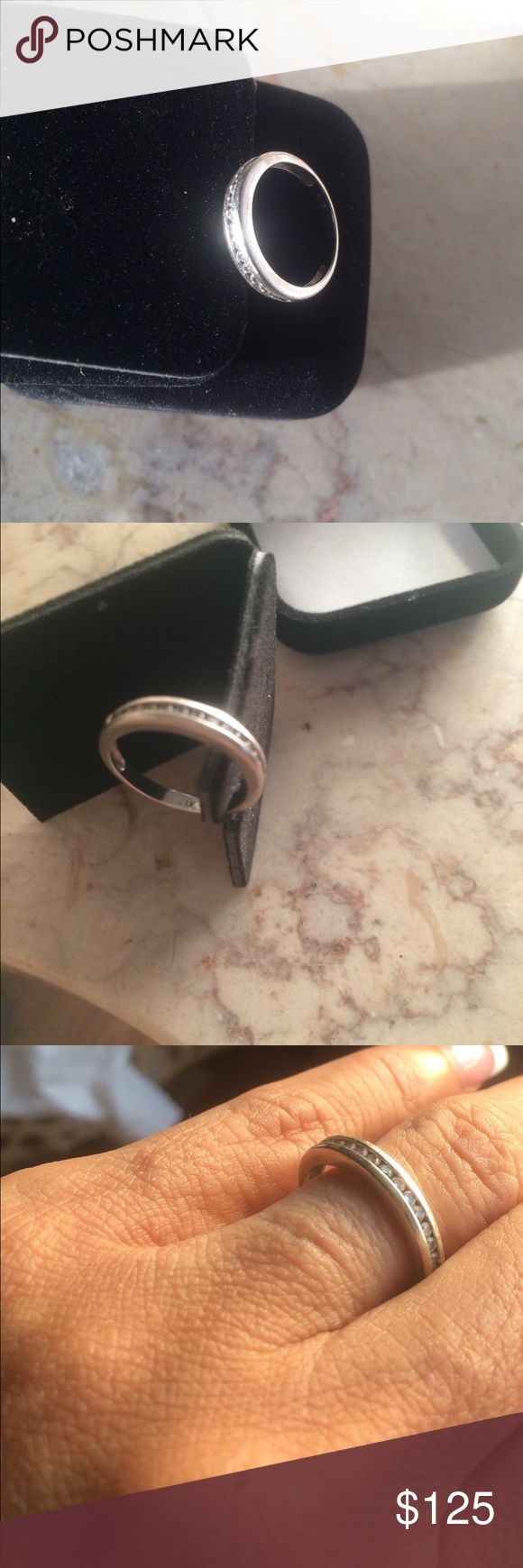 """417 Real white gold ring. Re: What does 417 ASK mean? Here is a reply I found on the same question. It is real gold.  the """"417"""" stamping on the item in question is a Karat mark for 10kt gold. Yes it is gold and its not fake.....it is 41.7 pure gold and the balance are alloys. In the case of 14kt gold it would be stamped either 14kt or 58.5 indicating its 58.5 pure gold and the balance alloys the same with 18kt which is 750 or 75 pure gold. Jewelry Rings"""