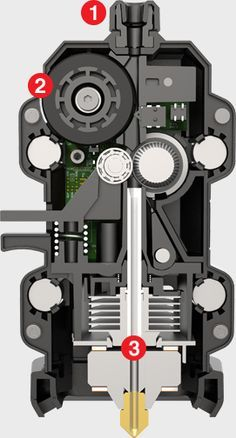 Inside the makerbot smart extruder plus image