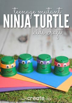 Your kids will love this fun TMNT k-cup craft!