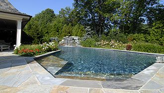 Inground Pool Landscaping With Fencing | your luxury pools, inground swimming pools by professional landscape ...