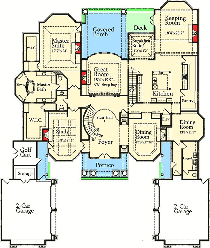 Plan 7203DS: Luxury with Stately Courtyard Entry