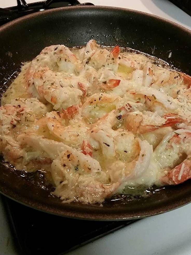 "Garlic Lemon Butter Parmesan Shrimp! ""Quick, easy, delicious meal!""  @allthecooks #recipe #shrimp #seafood #dinner #garlic #easy"