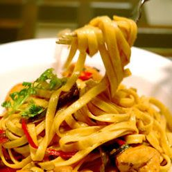 Similar to CPK Tequila Lime Chicken~ Pasta, Chicken Tequila Fettuccini, Red, Yellow And Green Bell Peppers Reflect The Vibrancy Of This Creamy Chicken Fettucini With Jalapenos, Garlic And Cilantro. Tequila And Lime Give A Unique Finish.  <3 SB