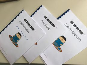 Arbetsböcker för läsinlärning i långsam takt