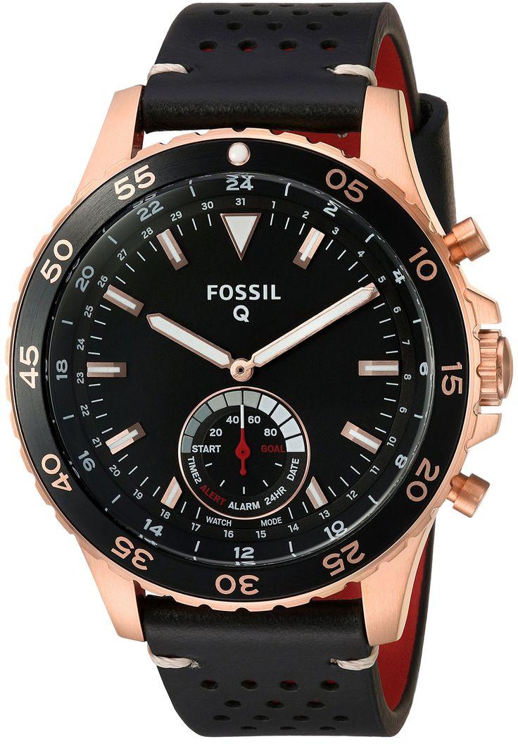 Fossil Q Crewmaster Gen 2 Men's Black Leather Hybrid