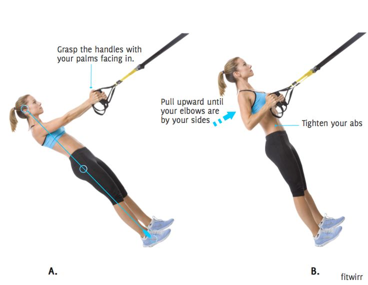 TRX row is a great alternative to Bent Over Row which also places no stress on your lower back.  It's a  great exercise to work your core, upper and mid back. You can increase the difficulty level by making the straps longer or eases it by shortening the