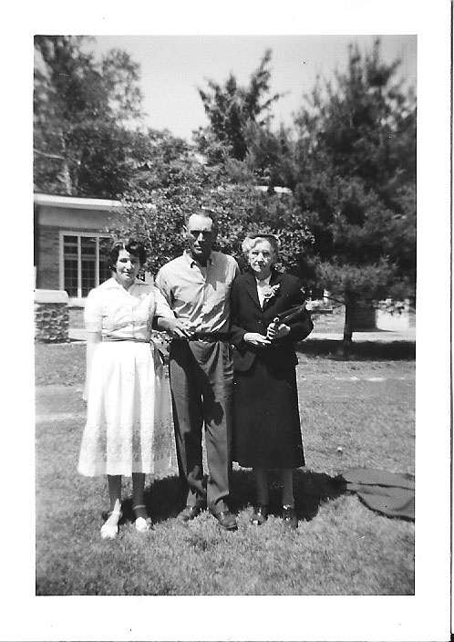 Another rare shot. Mom, dad, and grandma Allen, 1958.