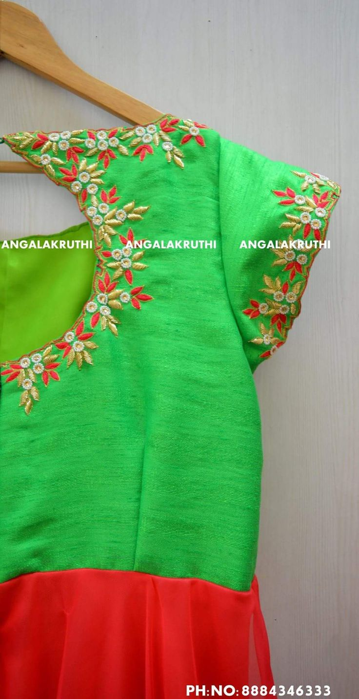 Thread work Blouse designs by Angalakruthi boutique Bangalore