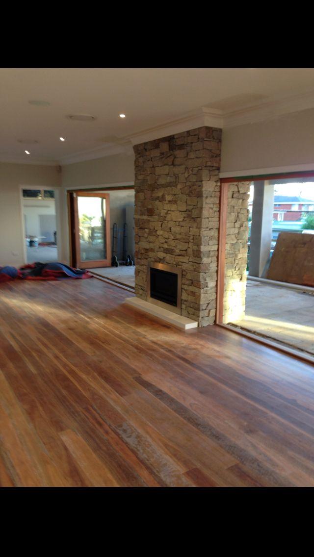 New indoor/outdoor fireplace But with roll up garage doors