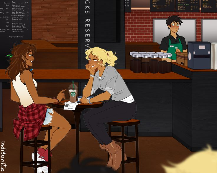 AU where Percy works at Starbucks and starts to get a crush on a blonde girl who orders the same coffee every Saturday by indigonite on Tumblr