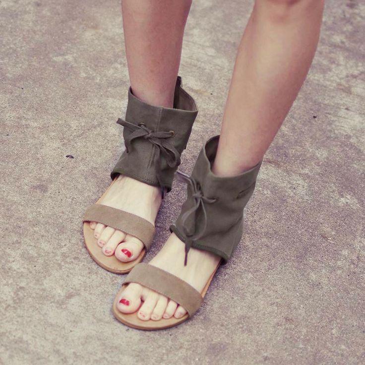 Barato Sapatos sandálias de verão Designer gladiador sandálias mulheres Flats roma tornozelo moto botas, Compro Qualidade Sandálias das senhoras diretamente de fornecedores da China:             Bem-vindo ao Graça s loja de moda                           Os sapatos que temos são vale a pena ser próprio