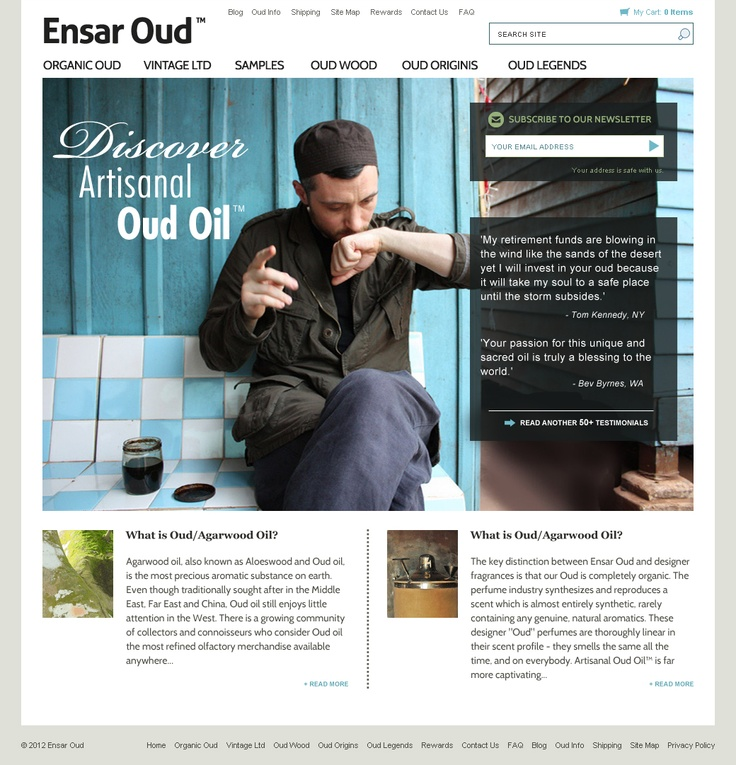 EOUD - Layout design - Home page
