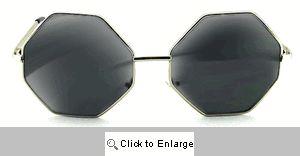 Autumn Octagon Sunglasses - 498 Silver