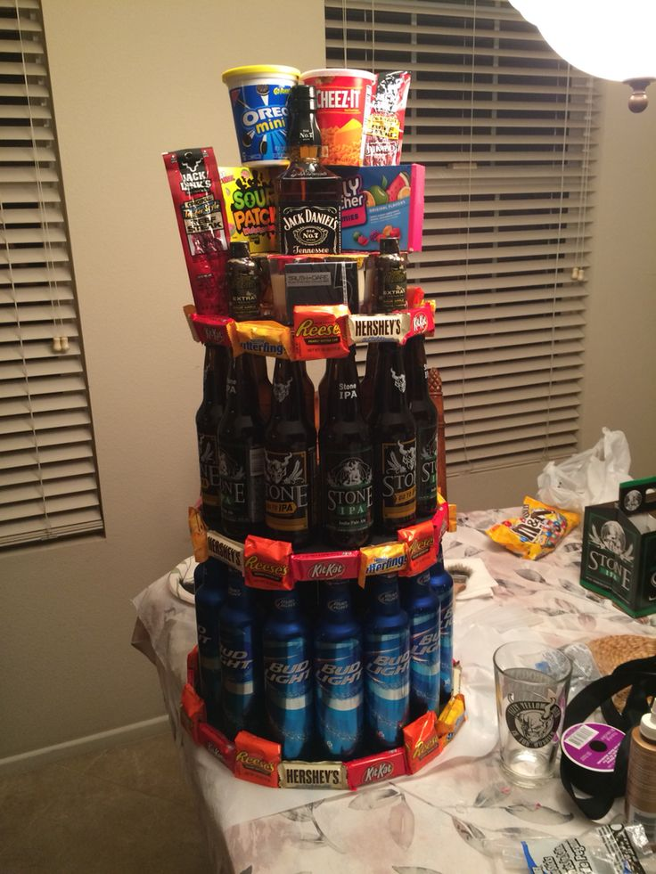 Made this for my guys 21st birthday! Total surprise he has no idea :)