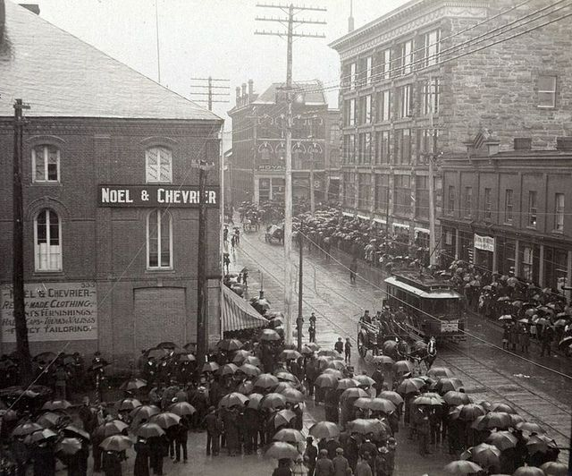 Late 1800's-early 1900's at Sussex St. & George St.  Ottawa, ON