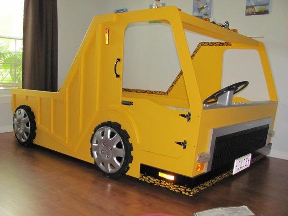 Jack's dream bed. | Dump trucks, Kid beds
