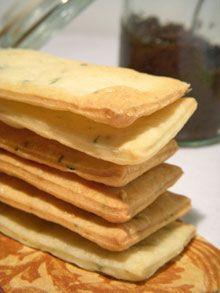 Crackers « maison » au fromage de chèvre & thym