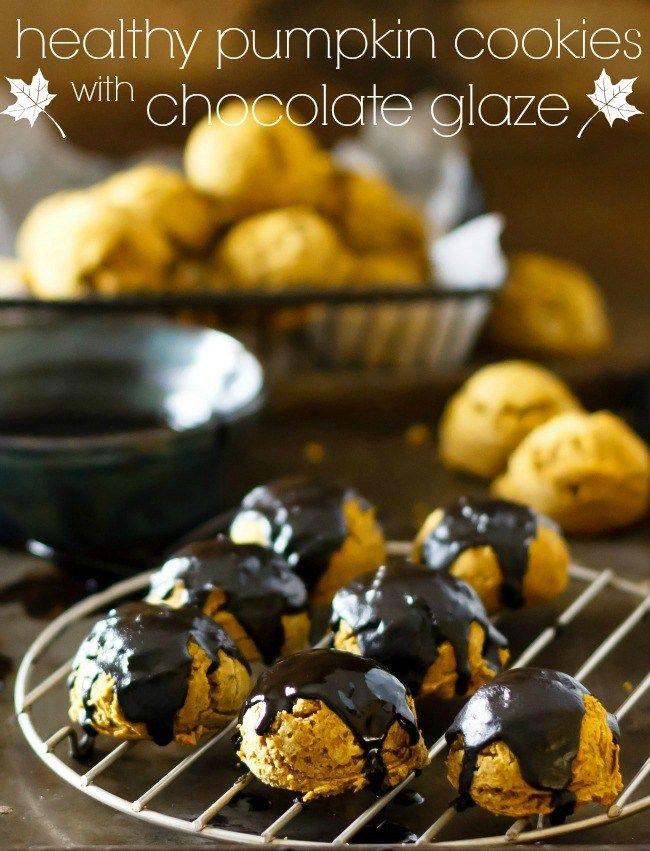 Healthy Pumpkin Cookies  |  Eat Healthy Eat Happy  |  V