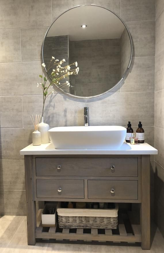 When A Regular Client Of Ours Requested Help With A Vanity Unit For Their Newly Refurbished En In 2020 Contemporary Bathroom Vanity Bathroom Sink Units Bathroom Units