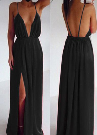 Fabulous Deep V Neck Maxi Dress in 3 Colors