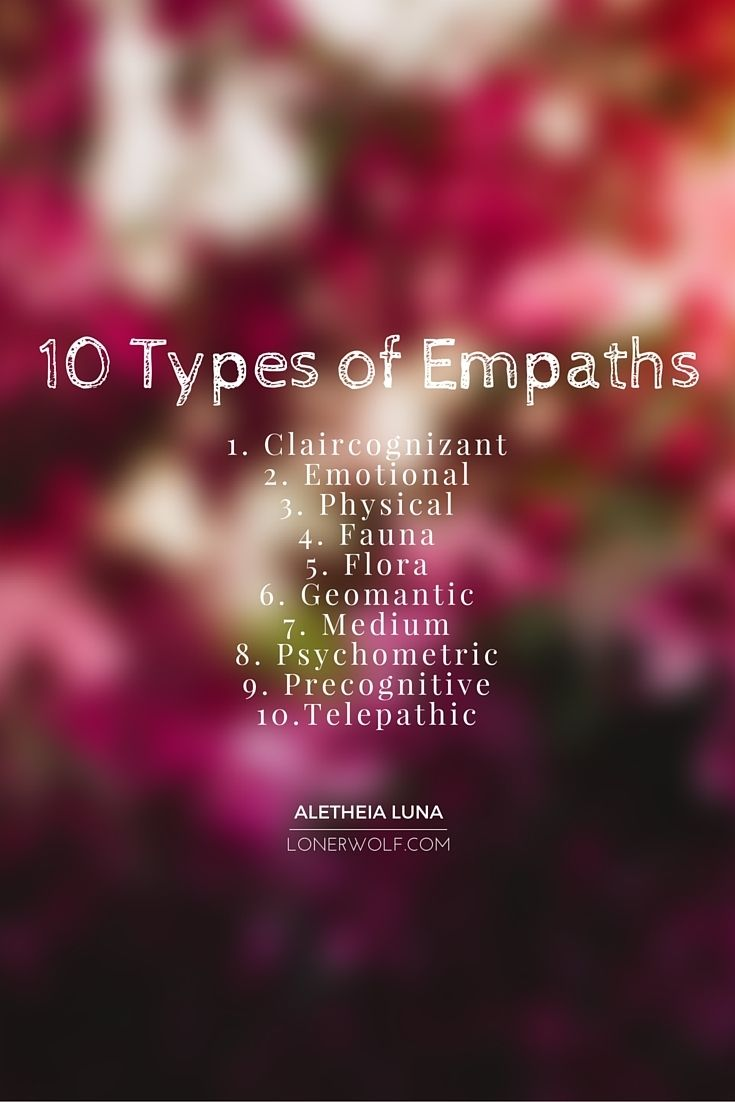What type of empath are you? Here's a really handy list ... (click for more elaboration)   #empath https://occu.info/what-is-spirituality/