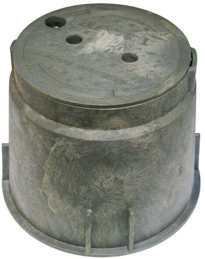 Electrical Splice Box Cover 10 Inch Round House Heavy Duty Pvc Outdoor Ground 726843003335 Ebay Metal Electrical Box Electricity Plastic Electrical Boxes