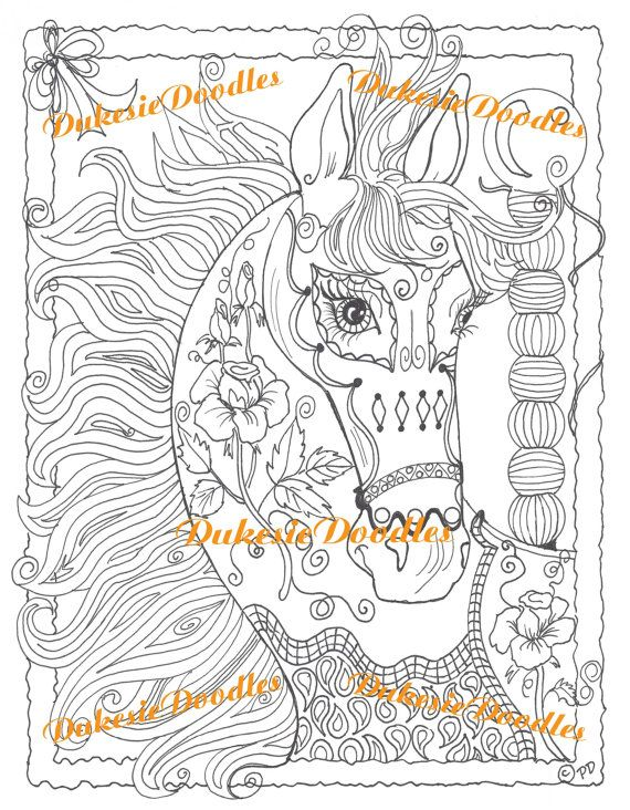 Digital Download, Adult Coloring Page, Printable Coloring ...