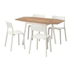 IKEA PS 2012 JANINGE Table And 4 Chairs Bamboo White