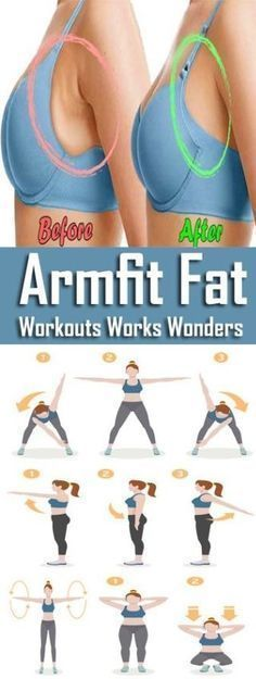 Chest exercises to reduce unsightly armpit fat.