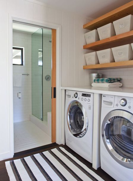 1000 ideas about laundry shelves on pinterest laundry for Shelf above washer and dryer
