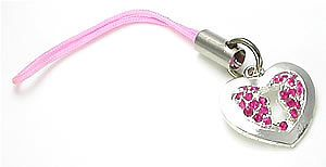 PINK HEART KEY Wholesale Cell Phone Charms #PainfulPleasures
