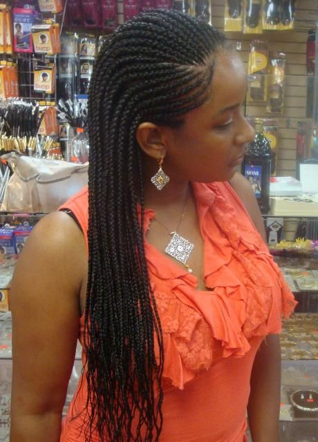 Protective Cornrows w/ synthetic braiding hair: good protective style if you keep your hair moisturized and don't braid too tightly along the edges.