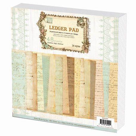 Prima - 12 x 12 Paper Pad - Ledger 3 at Scrapbook.com $16.99