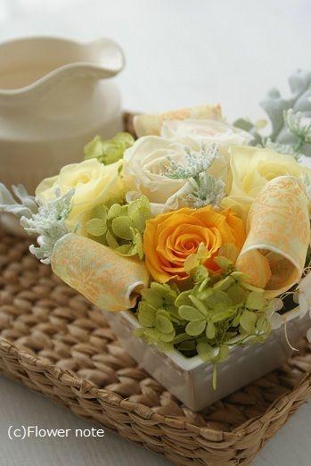 『ミニサイズのプリフラで・・・(オレンジ編)』 http://ameblo.jp/flower-note/entry-10588372714.html