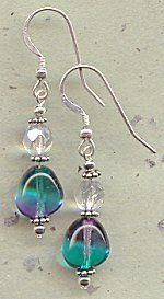 IDEA: Multi Color Rock Bead Earrings (eebeads.com)