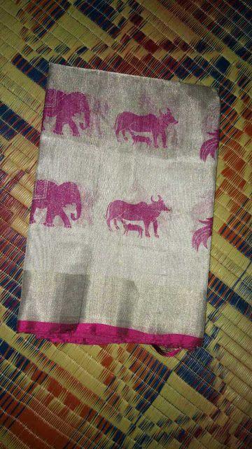 Uppada tissue with print Saree's | Buy Online uppada tissue sarees | Elegant Fashion Wear