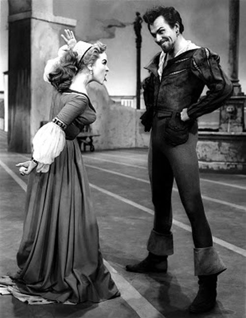 Kathryn Grayson and Howard Keel as Katherine and Petruchio in Kiss Me Kate