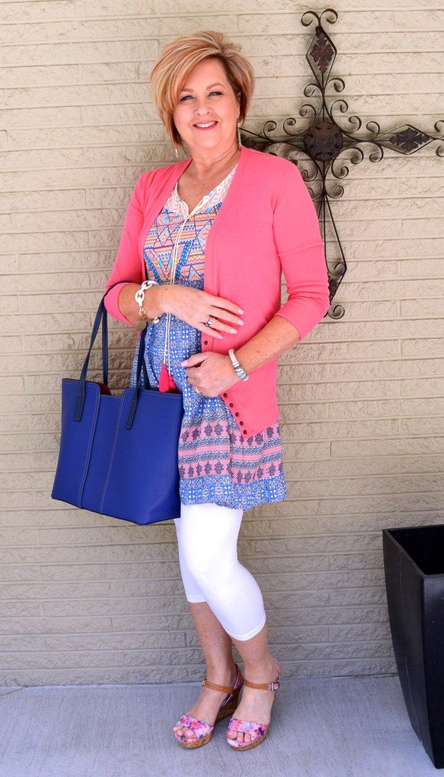 50 IS NOT OLD | BLUE WHITE & FLORAL | Spring outfit | Fashion over 40 for the everyday woman
