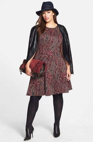 City Chic Faux Leather Jacket & Gabby Skye Dress (Plus Size) available at #Nordstrom