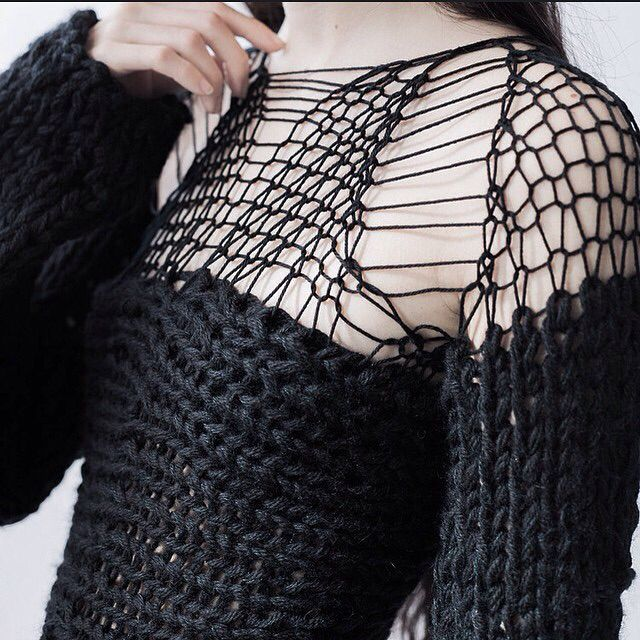 #black large and #loose #knit