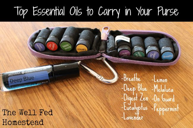 Top Recommended Essential Oils for Carrying in Your Purse. Suggestions by The Well Fed Homestead.