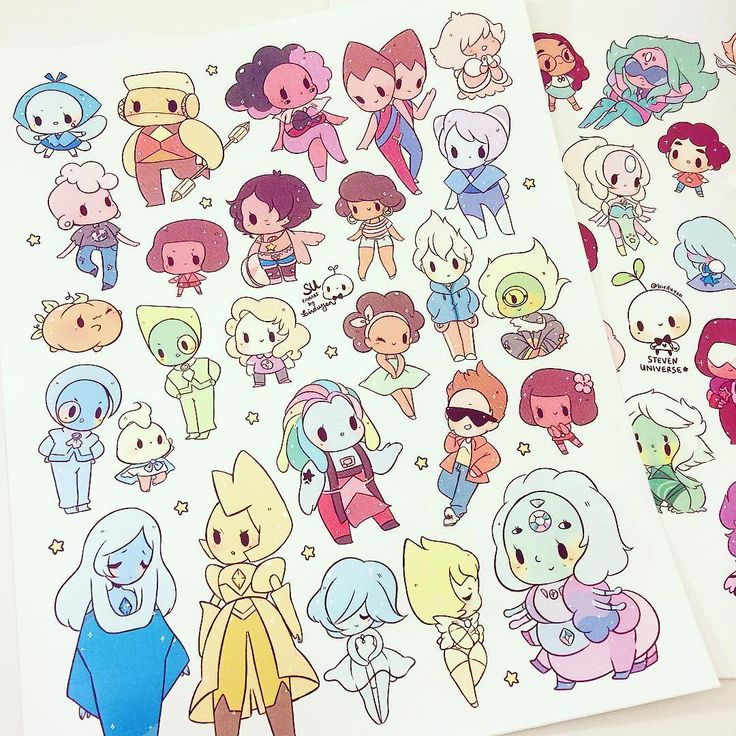 new (and old) steven universe stickers are available now!! link to my shop in bio ^o^ new buttons are available for preorder as well! you can buy them together to save on shipping c: first 13 button orders (any) can get 13% off using my discount code 'butts13' hehehe