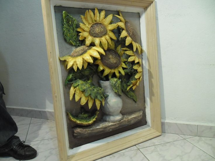 Sunflower vase, side view. Not finished.