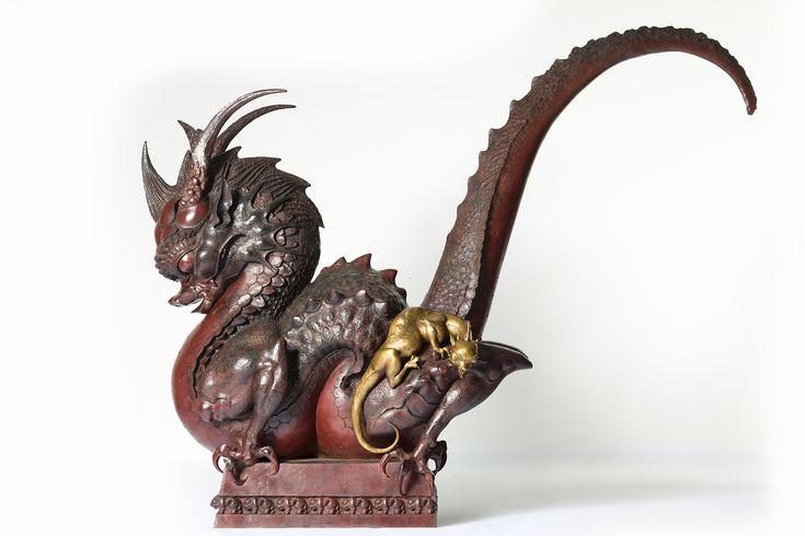 Даши Намдаков — Золотой дракон Золотой дракон, 2014 Бронза; литье, патинирование Скульптуры