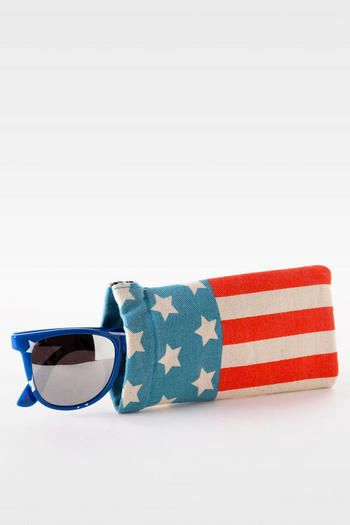 American Flag Sunglasses Case- Francesca's Collections